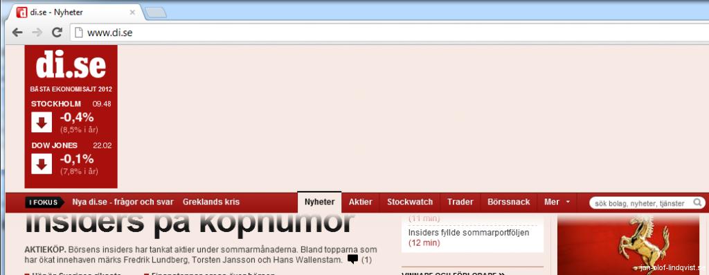 DI.se med bara AdBlock